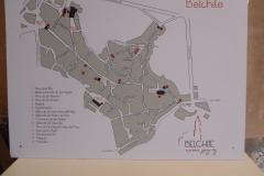 Spain, Belchite Musum, old town map