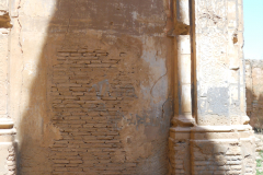 Spain, Belchite, S. Augustin 2, interior, with door where Lincolns entered