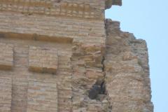 Spain, Belchite, S. Augustin Church 3, shell in wall near high altar