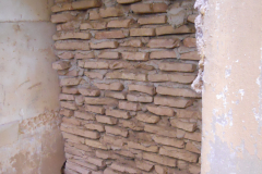 Spain, Belchite, S. Augustin Church, western wall exterior where Lincolns entered