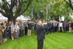 WW 1 Tours, Etreux,  Last Post ceremony, 27 August 2014