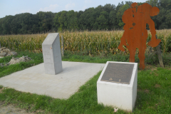 WW 1 Tours, Messines, Division marker, 16th and 36th, Messines battle, Wytschaete