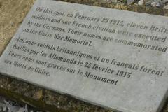 WW1 Tours, Guise, remembrance plaque, Guise Castle