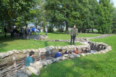 WW1 Tours, Messines, Vienna students at war games in Bayernwald trenches