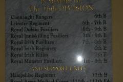WW1 Tours, Somme, Guillemont, 16th Div. plaque, Guillemont church