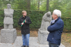 WW1 Tours, Vladslo, Vienna students talk about Kollwitz memorial, Vladslo German Cemetery