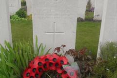 Ledwidge grave, Artillery Wood Cemetery