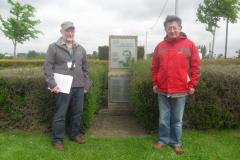 Mike and Barry McLoughlin at Ledwidge Memorial, Boezinghe